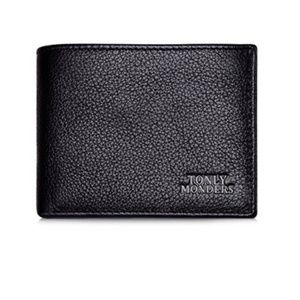 Other - RFID Blocking Bifold Leather Wallet Black